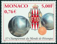 Monaco - Petanque - Postfrisk frimærke