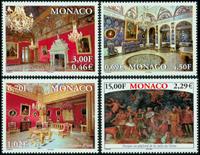 Monaco - Fyrstepaladset - Postfrisk sæt 4v