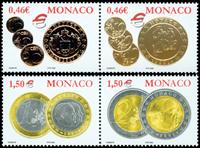 Monaco - Monnaies Euro - Série neuve 4v