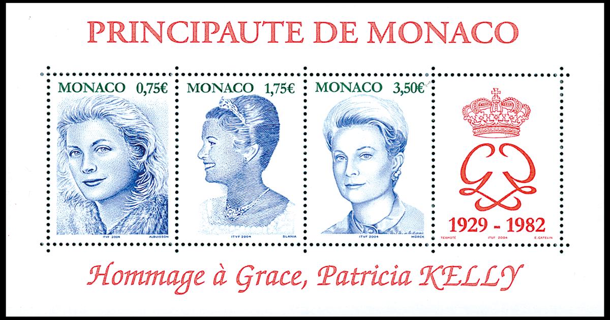 Monaco - Fyrstinde Grace - Postfrisk takket miniark