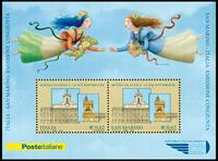 San Marino - Fællesudgave med Italien - Postfrisk miniark