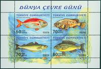 Tyrkiet - Fisk - Postfrisk miniark