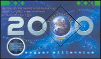 Ungarn - Årtusindeskiftet - Postfrisk miniark