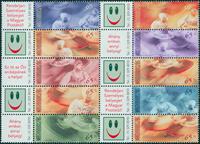 Ungarn - Greetings - Postfrisk sæt 10v med vignet
