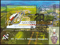 Ungarn - Formel 1 - Stemplet miniark