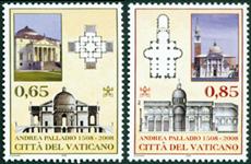 Vatikanet - Andrea Palladio - Postfrisk sæt 2v