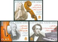 Vatikanet - Klassisk Musik - Postfrisk sæt 3v