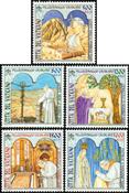 Vatikanet - Pilgrimsrejse - Postfrisk sæt 5v