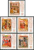 Vatikanet - Helbredelse - Postfrisk sæt 5v