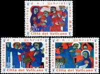 Vatikanet - Julen 2001 - Postfrisk sæt 3v