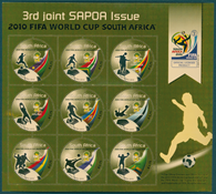 South Africa - SAPOA/FIFA World Cup 2010 - Mint sheet of 9