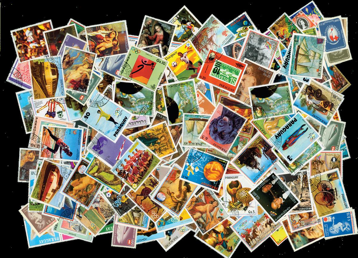 Paraguay - frimærkepakke 450 frimærker