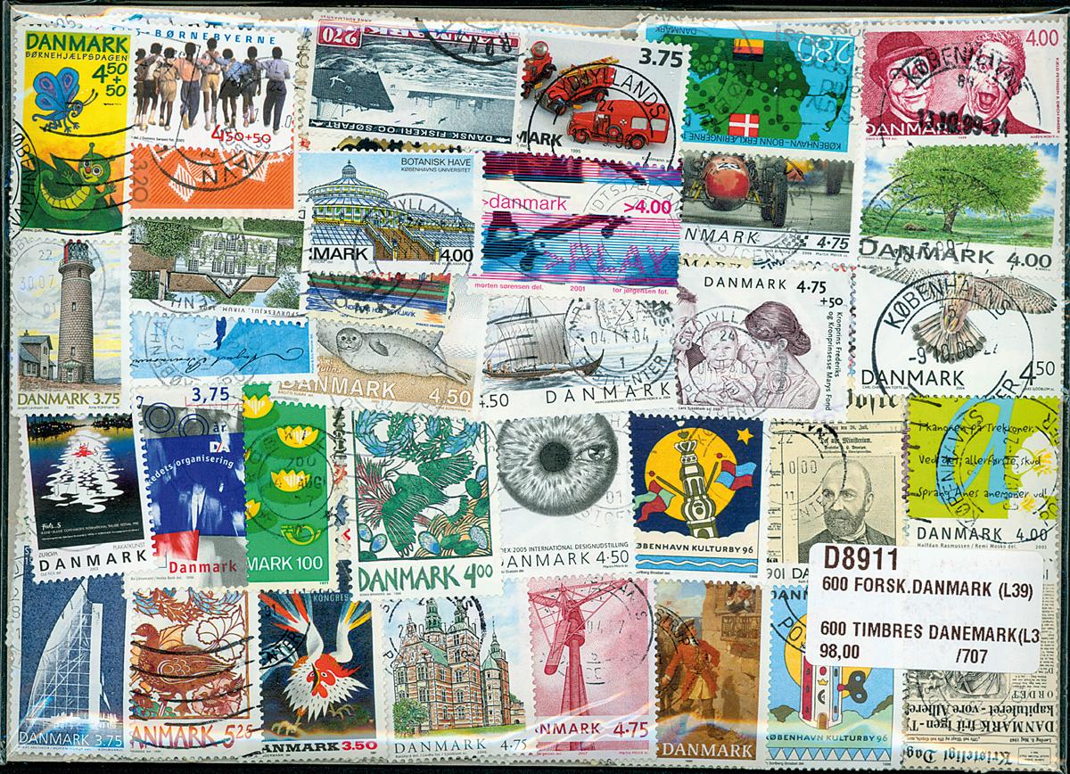 Danmark -600 forskellige frimærker