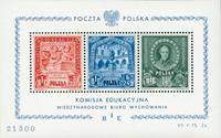 Polen - 1947 B.I.E - Miniark postfrisk