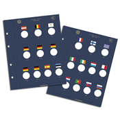 VISTA møntblade til 2-Euro mønter *10 Jahre Euro- Bargeld*