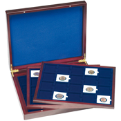 Presentation Case VOLTERRA TRIO de Luxe, each for 20 QUADRUM coin capsules 50x50mm
