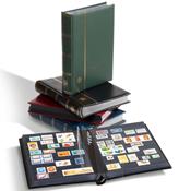 Insteekboek - Blauw - A4 - 64 zwarte bladzijden - gewatteerde leren band
