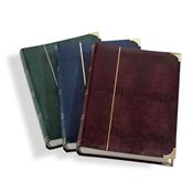 Indstiksbog - Blå - str. A4 - 64 hvide sider - kunstlæder indbinding - meta