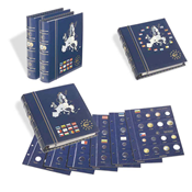VISTA Euro møntalbum, Bind 1 & 2, inkl. kassette