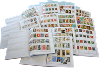 Hele Verden - Frimærkesamling 50000 opsat i udvalgshæfter