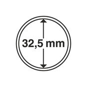Leuchtturm møntkapsler - Indre Ø: 32,5 mm - Ydre Ø: 37,5 mm - 10 stk.