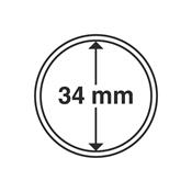 Capsules pour pièces de monnaie diamètre intérieur  34 mm