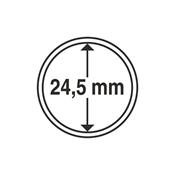 capsules pour pièces de monnaie diamètre intérieur  24,5 mm - 10 pcs