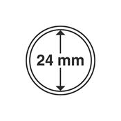 capsules pour pièces de monnaie diamètre intérieur  24 mm