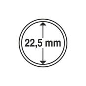 Leuchtturm møntkapsler - Indre Ø: 22,5 mm - Ydre Ø: 28,5 mm - 10 stk.