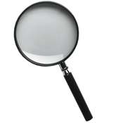 Magnifier glass with handle, 2,5x magnification