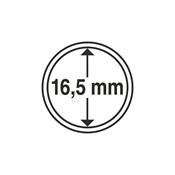 capsules pour pièces de monnaie diamètre intérieur  16,5 mm