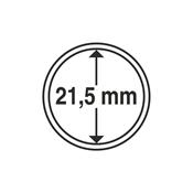 capsules pour pièces de monnaie diamètre intérieur  21,5 mm
