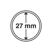 Leuchtturm møntkapsler - Indre Ø: 27 mm - Ydre Ø: 33 mm - 10 stk.