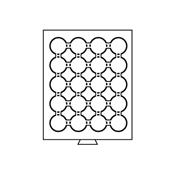 Møntboks til møntkapsler - Røgfarvet - 20 inddelinger til CAPS39