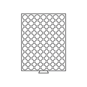 Møntboks til møntkapsler - Røgfarvet - 63 inddelinger til CAPS19