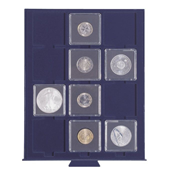 coin box SMART, with 12 square compartments up to 50 mm Ø