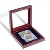 Møntetui til 1 certificeret møntholder (Slab) med glaslåg