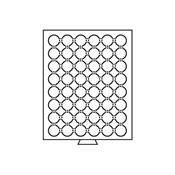 Møntboks til møntkapsler - Røgfarvet - 48 inddelinger til CAPS23