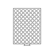 Møntboks til møntkapsler - Røgfarvet - 63 inddelinger til CAPS16.5