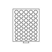 Møntboks til møntkapsler - Røgfarvet - 40 inddelinger til diverse CAPS