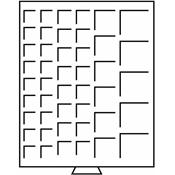Médaillier 45 compartiments avec divers Ø, teinte fumée