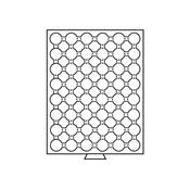 Møntboks til møntkapsler - Røgfarvet - 48 inddelinger til CAPS21,5
