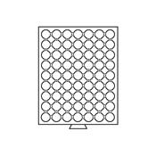 Møntboks til møntkapsler - Røgfarvet - 63 inddelinger til CAPS20