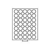 Møntboks til møntkapsler - Røgfarvet - 35 inddelinger til CAPS29