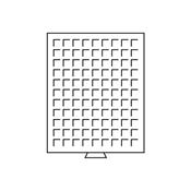 Møntboks - Grå - 99 kvadratiske inddelinger indtil  19 mm Ø