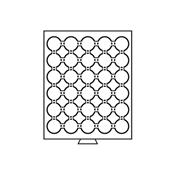 Møntboks til møntkapsler - Røgfarvet - 30 inddelinger til CAPS33