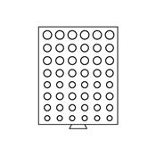 Møntbokse med runde inddelinger - Grå