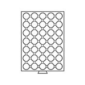 Møntboks til møntkapsler - Røgfarvet - 35 inddelinger til CAPS26