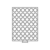 Møntboks til møntkapsler - Røgfarvet - 42 inddelinger til CAPS24.5