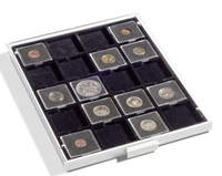 Møntbokse til møntkapsler - Grå